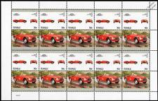 1952 FERRARI 512 Barchetta Car 20-Stamp Sheet / Auto 100 Leaders of the World