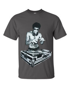 DJ Bruce Lee Mens Charcoal T shirt/Worn by Tony Stark Avengers/Movie/Headphones