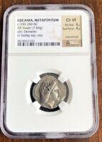 Lucania Metapontum AR Stater Coin 330-280 BC - NGC Choice VF