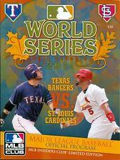 (20) 2011 World Series Programs St. Louis Cardinals vs Texas Rangers Pujols