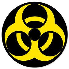 "BIOHAZARD Danger Sign warning bumper sticker 4"" x 4"""