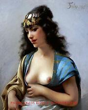 "Nude Woman Eastern Beauty 8.5x11"" Photo Print Bosom Luis Ricardo Falero Fine Art"