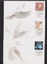 Canada FDC Year 1999-2000 3 First Day Covers in Holder Scott 1812-1814 Y2K |