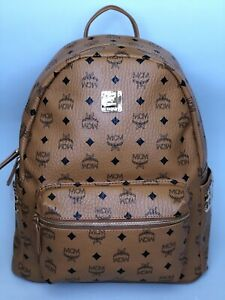 MCM Medium Backpack - Cognac