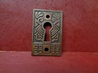 1 MORE AVAIL ANTIQUE CAST IRON KEYHOLE COVER #015