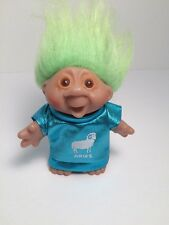"""Vintage Dam Troll 5"""" 1986 Aries with outfit and green hair."""