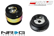 NRG Steering Wheel Short Hub SRK-120H + Black Gen2 Quick Release Neo Chrome Ring