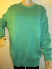 7f0e9fd32 Polo by Ralph Lauren Women s Green Pullover Sweater Size L Crew-neck 100%  Cotton