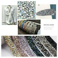 Bling Crystal Rhinestone Chain Trim Ribbon Craft Wedding Dress DIY Sewing Decor