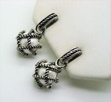 A094 Unique Elegant design style rhodium Cable White peal color fashion earring