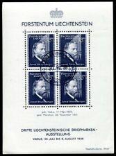 LIECHTENSTEIN 1938 BLOCK3 gestempelt TADELLOS (49166