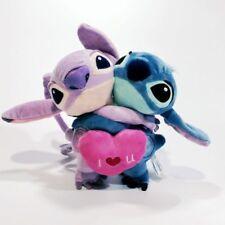"NEW Lilo and Stitch Girlfriend ""Angel"" Hug With Red Heart Plush Toy""I LOVE U"""