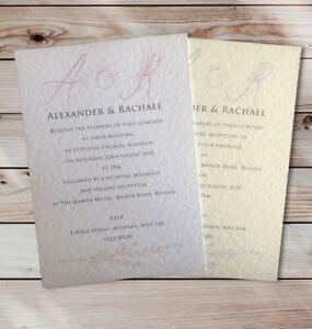 Wedding Invitations -  RSVP - Gifts - Information Cards - Menus - Personalised