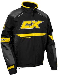 Castle X Blade G5 Snowmobile Jacket Charcoal/Yellow/Black  Ski Doo color