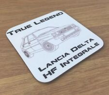 Lancia Delta Integrale HF drinks coffee coaster mat Guys car rally driving gift