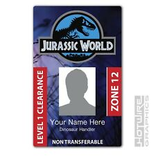 PERSONALISED Printed Novelty ID- Jurassic World Dinosuar Handler Pass FILM & TV