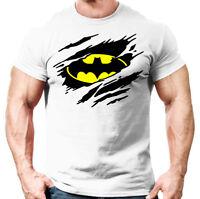 Mens Muscle Fit T Shirt - Bodybuilding, Crossfit, Gym Top For Batman Fans