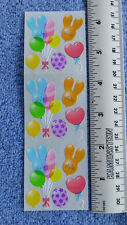 Sandylion BALLOONS - 1 Strip of VINTAGE Party Balloon Stickers RETIRED LIMITED