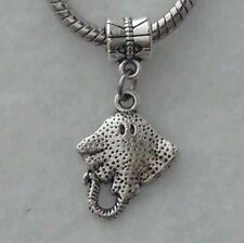 Stingray Ocean Beach Animal Dangle Bead for Silver European Style Charm Bracelet