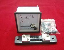 DC 30A Analog Ammeter Panel AMP Current Meter 72*72mm 0-30A with Shunt