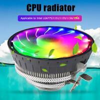 Wanjiafeng For Intel LGA775/1151 4 Pin RGB CPU Cooling Fan Air Cooler Radiator
