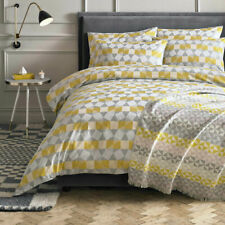 Niki Jones Pentagonal Duvet Cover Grey/Yellow Double