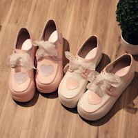 Sweet Lolita VINTAGE Shoes Harajuku Shoes kawaii Princess Bow Cute#FT-W35