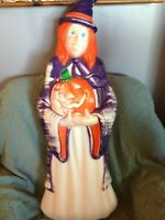 "VINTAGE HALLOWEEN 2004 GRAND VENTURE 38"" WITCH (PURPLE) BLOW MOLD W/LIGHT CORD"