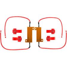 2* 50W 6ohm 6Ω Load Resistors Hyper Flash Turn Signal Blink Blinker LED Bulb NSW