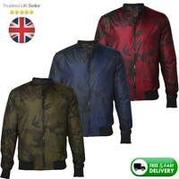 Mens Camo Camouflage Bomber Jacket, Military Army Lightweight Coat, Size S-2XL