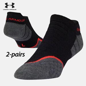 UA Socks: 2-PAIR All Season Wool No Show (L) Black