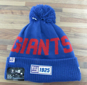New York Giants Bobble Hat Genuine NFL Merchandise NEW FREE DELIVERY