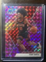 2019-20 Panini Mosaic Basketball Pink Camo Coby White #211 Rookie Card RC Bulls