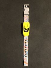 1989 Hot Wheels Watches Removable Yellow Car Wrist Watch Die Cast Wristwatch