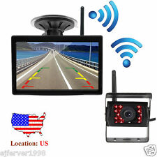 """Wireless LED Rear View Backup Camera Night Vision System+5"""" Monitor for RV Truck"""