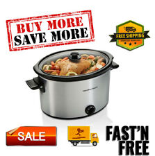 Slow Cooker 10 Quart Large Crock Pot Stoneware Kitchen Appliance, Easy to use.