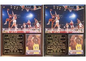 Kareem Abdul Jabbar #33 Los Angeles Lakers 6-Time NBA Champion Photo Plaque MVP