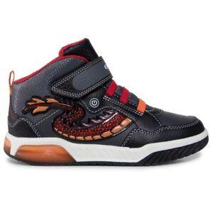 Sneaker Ragazzo Geox J Inek B. E Nera e Rossa - J949CE05411C0048