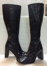 Alberto Fermani Women's Black Tall Boots Size 36 Italy/ 6 US