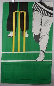 Vintage Tea Towel Irish Linen Ulster Weavers Cricket Stumps RARE