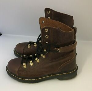 Dr Martens Ankle Boots Size 6 Brown Leather Lace Up Everyday Casual Wear 111343