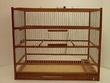 Birds Aviary Amazing Wooden Hand Crafted ;  Slide Out Tray, Plexiglas.