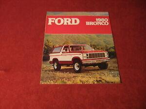 1980 Ford Bronco Pickup Truck Sales Brochure Booklet Catalog Book Old Original