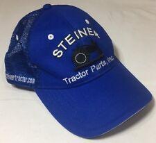 STEINER TRACTOR PARTS FOR OLD BASEBALL CAP TRUCKER HAT BLUE ADJUSTABLE SUMMER