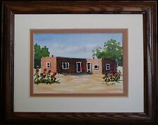 New Mexico Casa, Southwestern Adobe, Original Miniature Watercolor