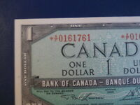 1954 Canada 1 Dollar Replacement Bank Note-*XF0161761-  21-113