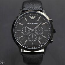 EMPORIO ARMANI reloj de hombre AR2461 Cuero natural color: Negro Cronógrafo