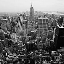 NEW YORK CITY B&W SET OF 4 COASTERS RUBBER WITH FABRIC TOP