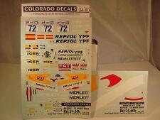 "DECALS 1/24 PORSCHE 911 GT3 R  #72 ""REPSOL"" LE MANS 2000 - CARPENA  2460"