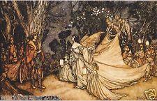 Arthur RACKHAM impresión Oberon y Titania Hada Sueño de verano noches
